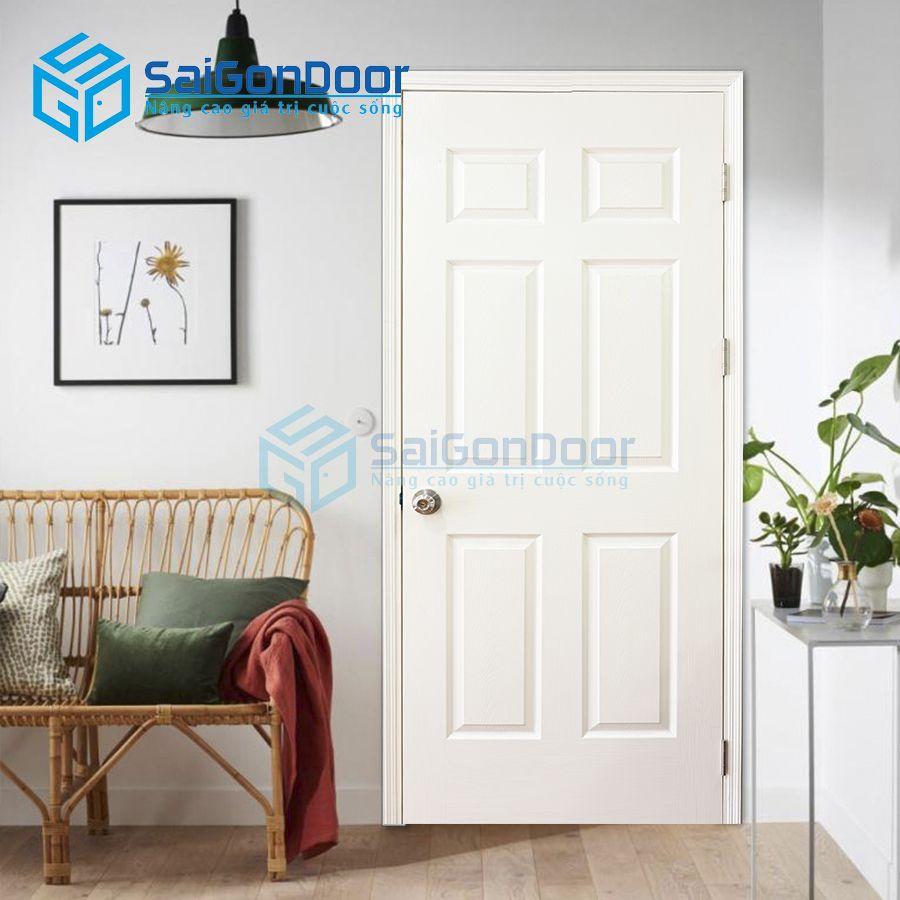 Cửa gỗ công nghiệp HDF sơn màu