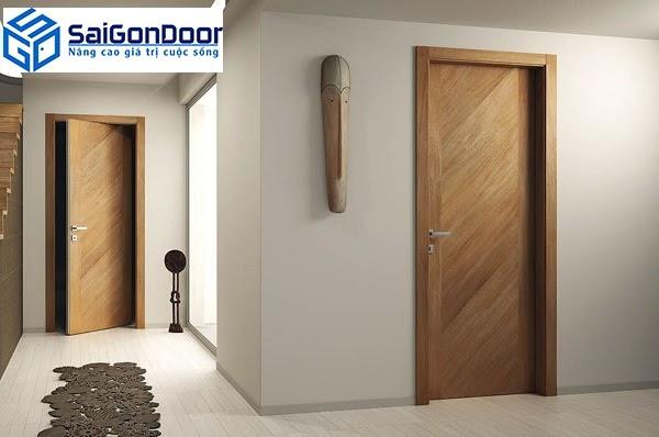 Cửa gỗ công nghiệp thường có độ bền khá cao.